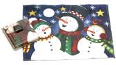 Holiday Christmas Theme Cleaning Cloth Snowmen-Carol
