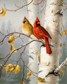 Cardinals West Virginia State Bird Artist Micro Fiber Cleaning Cloth