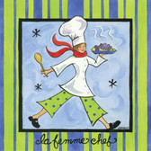 La Femme Chef Artist 240-25a-2 Micro Fiber Cleaning Cloth