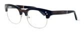"Specs of Wood Designer Wooden Eyewear Made in the USA ""The Malcom"" in Ebony Wood (Black Silver)"