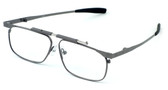 Calabria FAST-FOLD Metal Folding Reading Glasses w/ Case in Pewter