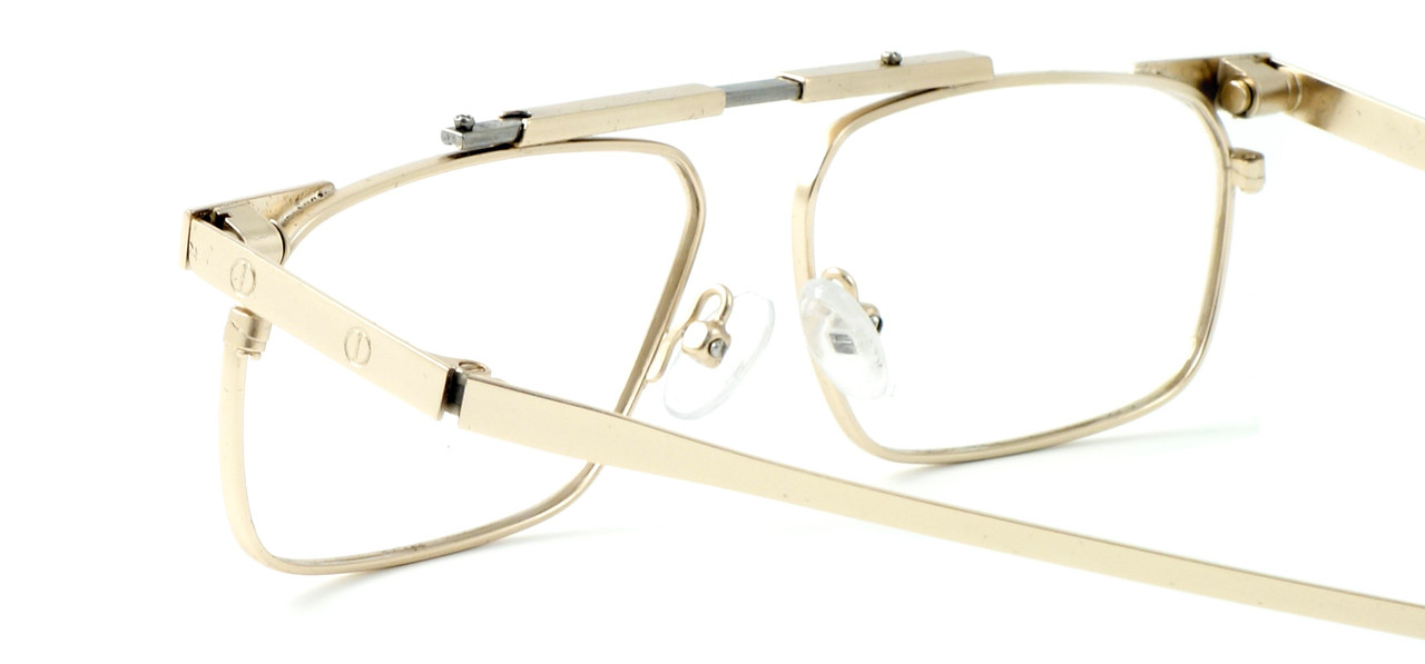 7ea629cb7cd3 Calabria FAST-FOLD Metal Folding Reading Glasses w  Case in Gold ...