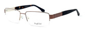 "Calabria Optical Designer Eyeglasses ""Big And Tall"" Style 11 in Brown :: Rx Bi-Focal"