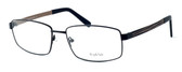 "Calabria Optical Designer Eyeglasses ""Big And Tall"" Style 12 in Black-Brown :: Rx Bi-Focal"