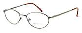 Calabria MetalFlex U Pewter Designer Eyeglasses O in Antique Gold :: Custom Left & Right Lens