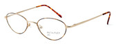 Calabria MetalFlex U Pewter Designer Eyeglasses O in Gold in Brown :: Custom Left & Right Lens