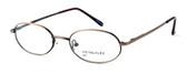 Calabria MetalFlex U Pewter Designer Eyeglasses P in Antique Brown :: Custom Left & Right Lens