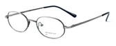Calabria MetalFlex U Pewter Designer Eyeglasses P in Antique Pewter :: Custom Left & Right Lens