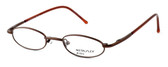 Calabria MetalFlex U Pewter Designer Eyeglasses 1003 in Brown :: Rx Bi-Focal
