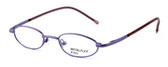 Calabria MetalFlex U Pewter Designer Eyeglasses 1003 in Purple :: Rx Bi-Focal