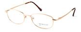 Calabria MetalFlex U Pewter Designer Eyeglasses LL in Gold :: Rx Bi-Focal