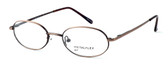 Calabria MetalFlex U Pewter Designer Eyeglasses P in Antique Brown :: Rx Bi-Focal