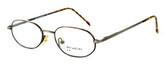 Calabria MetalFlex U Pewter Designer Eyeglasses P in Gold & Amber :: Rx Bi-Focal