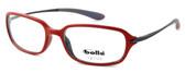 Bollé Neuilly Designer Eyeglasses in Opaque Red w/ Dark Gun :: Rx Single Vision