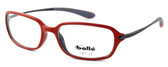Bollé Neuilly Designer Eyeglasses in Opaque Red w/ Dark Gun :: Progressive