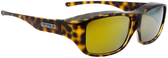 Jonathan Paul® Fitovers Eyewear Large Quamby in Cheetah & Gold Mirror QL003YM