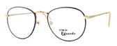 Regency International Designer Eyeglasses Ashley in Gold Pink 54mm :: Progressive