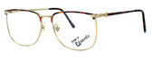 Fashion Optical Designer Eyeglasses E2055 in Gold Demi Amber 57mm :: Rx Bi-Focal