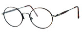 Regency International Designer Eyeglasses Prep in Dark Amber & Antique Silver 49mm :: Rx Bi-Focal