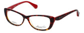 Kenneth Cole Designer Reading Glasses KC0202-054 in Red-Tortoise