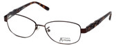 Guess by Marciano Designer Eyeglasses GM155-BRNTO in Brown-Tort :: Progressive
