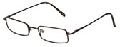 FlexPlus Collection Designer Eyeglasses Model 112 in Brown 48mm :: Custom Left & Right Lens