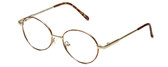 Flex Collection Designer Eyeglasses FL-37 in Gold-Demi-Brown 46mm :: Rx Bi-Focal
