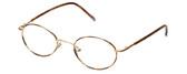 FlexPlus Collection Designer Eyeglasses Model 64 in Gold-Demi-Amber 46mm :: Rx Bi-Focal