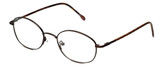 FlexPlus Collection Designer Eyeglasses Model 82 in Ant-Brown 50mm :: Rx Bi-Focal