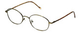 FlexPlus Collection Designer Eyeglasses Model 82 in Ant-Gold 50mm :: Rx Bi-Focal