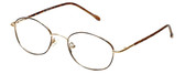 FlexPlus Collection Designer Eyeglasses Model  82 in Gold-Demi-Brown 50mm :: Rx Bi-Focal