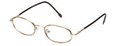 FlexPlus Collection Designer Eyeglasses Model 86 in Gold-Demi-Amber 48mm :: Rx Bi-Focal