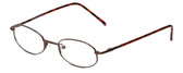 FlexPlus Collection Designer Eyeglasses Model 89 in Brown-Satin 46mm :: Rx Bi-Focal