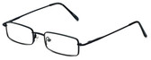 FlexPlus Collection Designer Eyeglasses Model 112 in Black 48mm :: Rx Bi-Focal