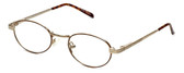 Flex Collection Designer Reading Glasses FL-46 in Gold-Tortoise 44mm