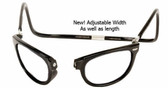 Clic Magnetic Eyewear Regular Fit Ashbury Wide Style in Black :: Custom Left & Right Lens