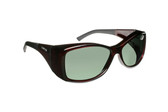 Haven Designer Fitover Sunglasses Balboa in Wine & Polarized Grey Lens (LARGE)