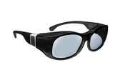 Haven Designer Fitover Sunglasses Sunset in Black with Grey Leather & Polarized Grey Lens (LARGE)