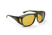 Haven Designer Fitover Sunglasses Summerwood in Black & Polarized Yellow Lens (LARGE)