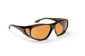 Haven Designer Fitover Sunglasses Rainier in Tortoise & Polarized Amber Lens (LARGE)