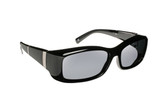 Haven Designer Fitover Sunglasses Freesia in Black Bars & Polarized Grey Lens (MEDIUM)