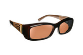 Haven Designer Fitover Sunglasses Freesia in Croc Chocolate & Polarized Amber Lens (MEDIUM)