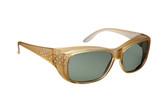 Haven Designer Fitover Sunglasses Morgan in Champagne Crystal & Polarized Grey Lens (MEDIUM/LARGE)