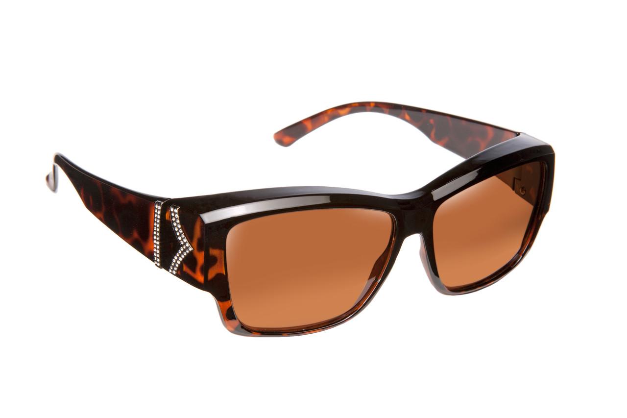 3a2827f88a Haven Designer Fitover Sunglasses Stella in Tortoise Chevron   Polarized  Driving Lens (MEDIUM LARGE)