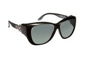 Haven Designer Fitover Sunglasses Manhattan in Black & Polarized Grey Lens (MEDIUM/LARGE)