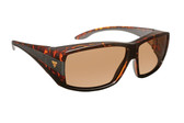 Haven Designer Fitover Sunglasses Breckenridge in Tortoise & Polarized Amber Lens (MEDIUM/LARGE)