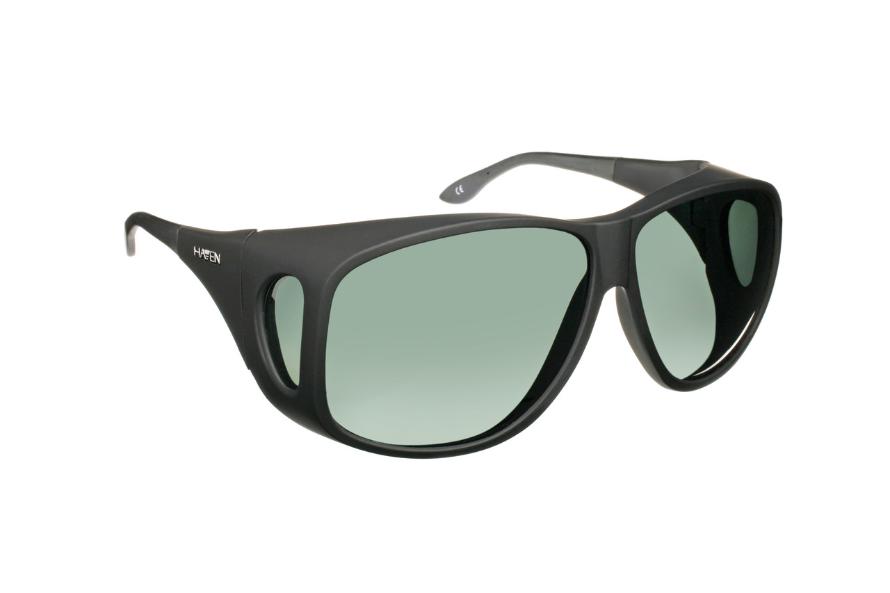 459966a63f Haven Designer Fitover Sunglasses Banyan in Black   Polarized Grey Lens (XL)