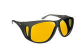 Haven Designer Fitover Sunglasses Banyan in Black & Polarized Yellow Lens (XL)