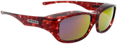 Jonathan Paul® Fitovers Eyewear Medium Queeda in Claret-Tortoise & Purple Mirror QS004PM