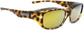 Jonathan Paul® Fitovers Eyewear Medium Queeda in Cheetah & Gold Mirror QS003YM